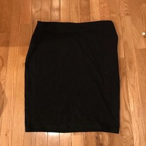 Pencil cotton stretch skirt